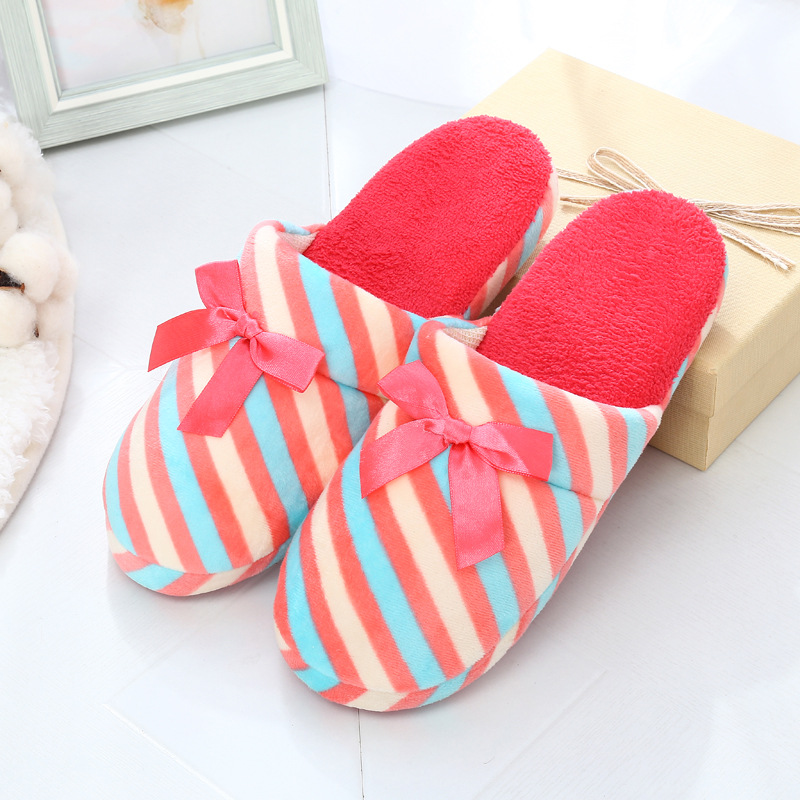 2017 Fashion Plush Women Indoor Slippers Warm Soft Pink Grey Indoor/Home Female Slippers Shoes Plus Size Autumn Winter WS341 soft plush big feet pattern winter slippers