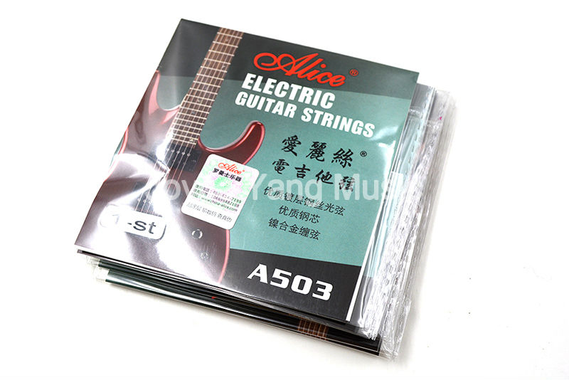 10 Pack Alice A503-009/010 in. Electric Guitar Strings E-1st Single Plated Steel String Free Shipping 3 sets alice aw466 light acoustic guitar strings plated high carbon steel