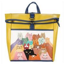 Элегантный дизайн милый мультфильм печати рюкзак старинные высокое качество из искусственной кожи Школьные ранцы для подростков девочек путешествия рюкзак