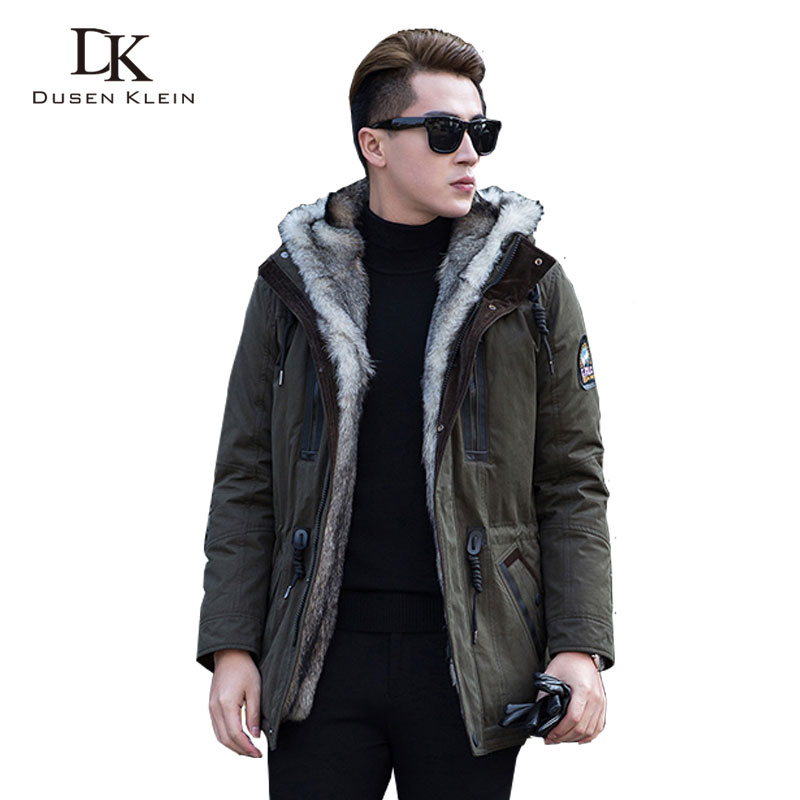 Wolf Fur For Men And Women Thick Jackets Long Coats Designer Fashion Winter Warm Luxury Hooded Jackets DK1125