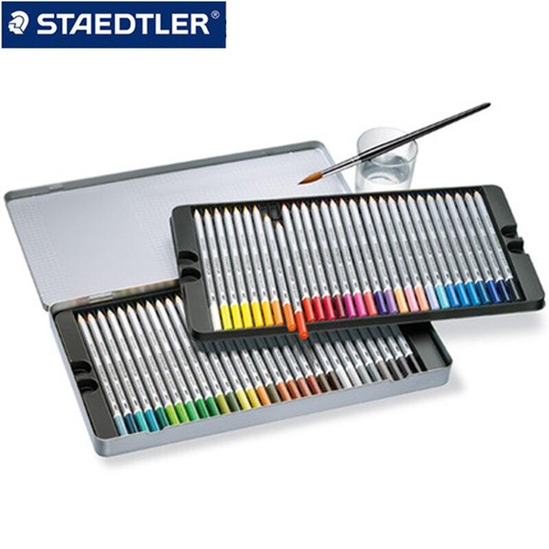 Staedtler 125 M water-soluble colored pencil 12/24/ 36/48/60 Colors Set for Drawing Sketching Tin Box lyra художественный набор sketching set 11 предметов