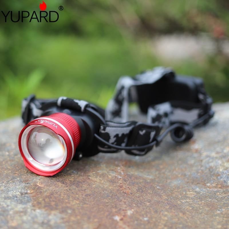 Yupard XM-L2 LEVOU Farol À Prova D' Água Zoom T6 LED farol lâmpada de Foco de Luz lanterna luz de acampamento caminhadas 18650 recarregável
