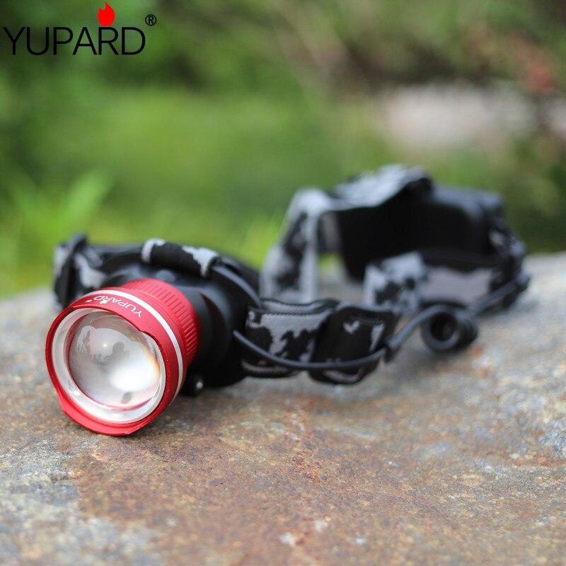 Yupard XM-L2 LED Koplamp Waterdichte Zoom T6 LED koplamp Focus Licht - Draagbare verlichting