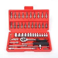 46pcs 1 4 Inch High Quality Socket Set Car Repair Tool Ratchet Set Torque Wrench Combination