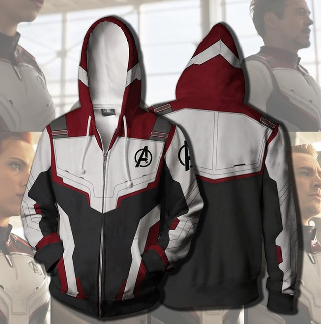 Avengers Endgame Sweatshirt Advanced Tech Hoodie Cosplay Costumes 2019 end game tony stark Iron Man Hoodies suit clothes