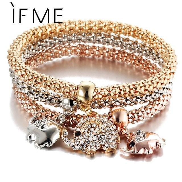 Rose Gold Crystal Owl Charm Bracelets 2