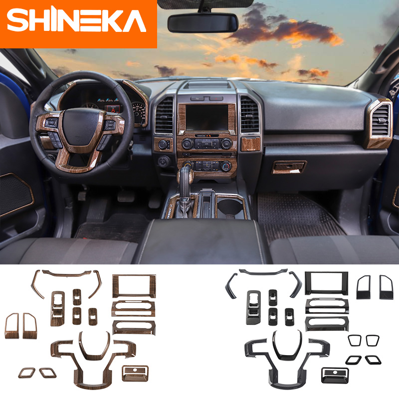 Shineka Interior Mouldings For Ford F150 Sticker Carbon