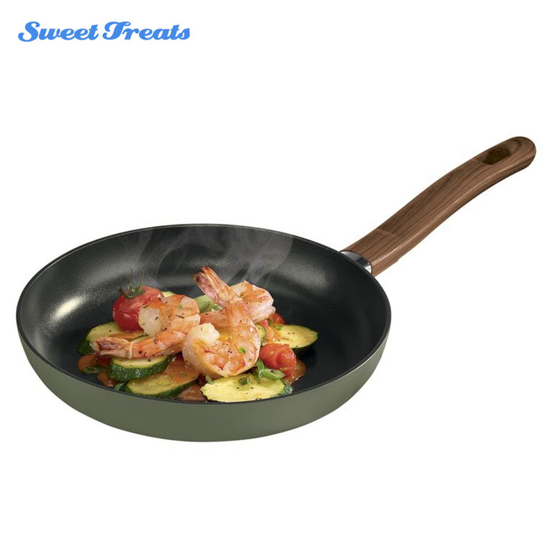Sweettreats Non-stick Skillet Cooking Pan With Ceramic Coating Copper Color Professional Frying Pan 12 inch Kitchen Cooker Pan