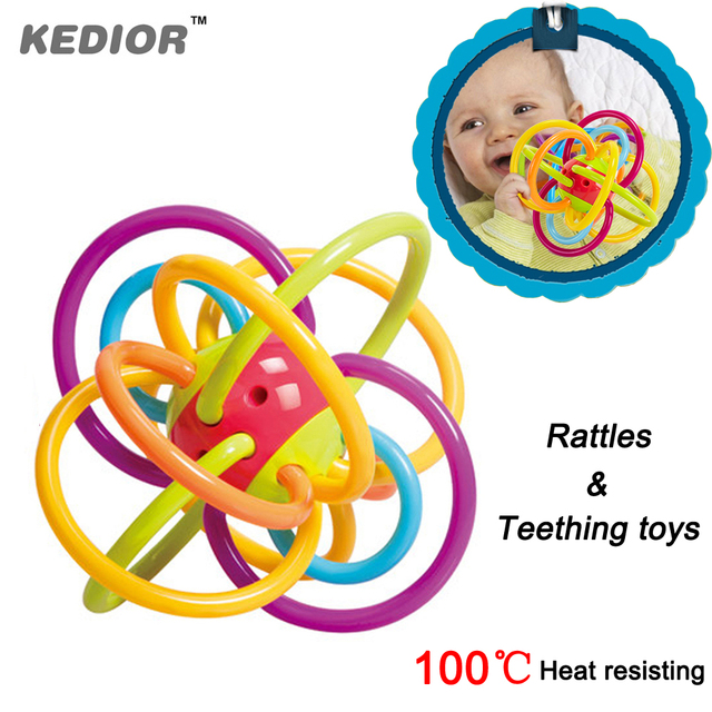 HOT Manhattan Toy Winkel Rattle Baby Teethers Safety Eco-friendly Newborn Teething Activity Toy Can Boiling Water Disinfection
