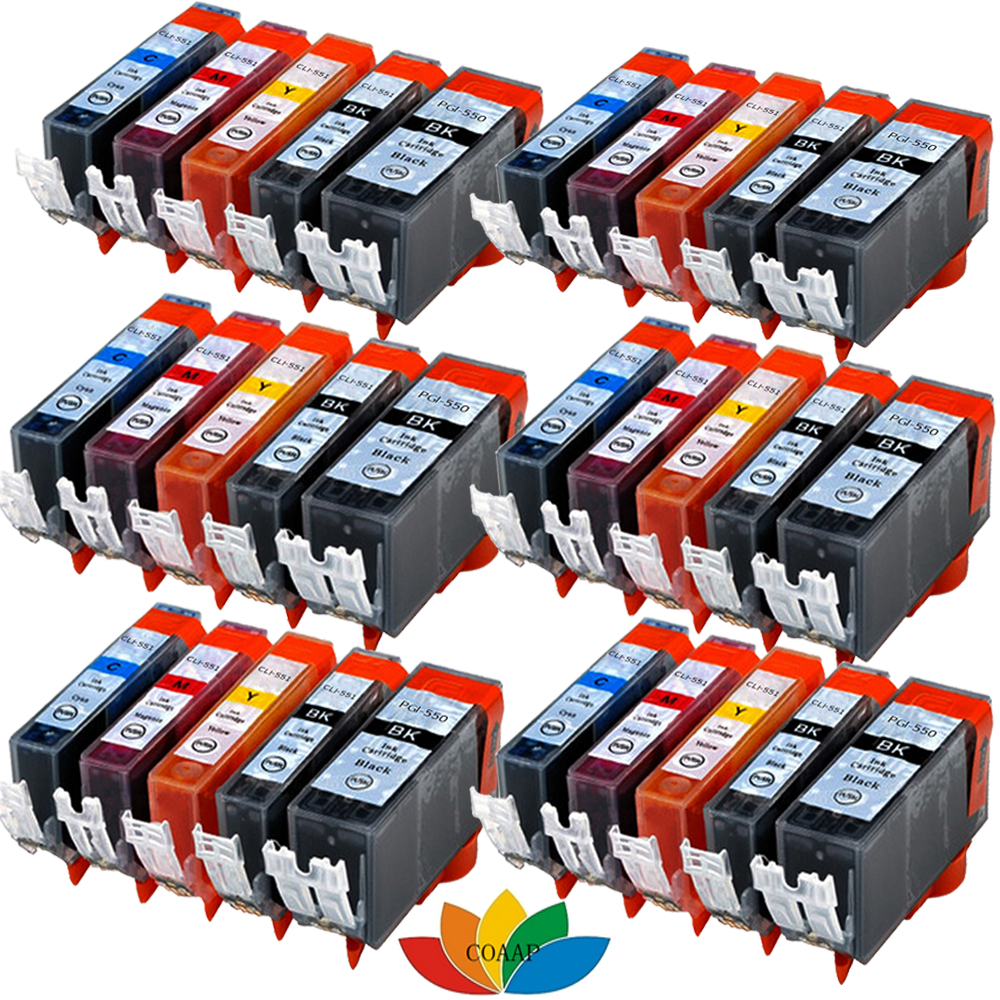 30x PRINTER CARTRIDGE with CHIP for CANON PIXMA IP7250 MG5450 MG5550 MX725 MX925