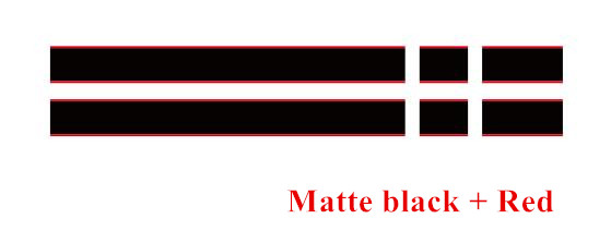 Автомобильный капот крышка двигателя виниловая наклейка авто задний багажник линии наклейки на капот Спорт полоса для Mini Coopers F54 F55 F56 R56 R57 R58 - Название цвета: Matte black-red