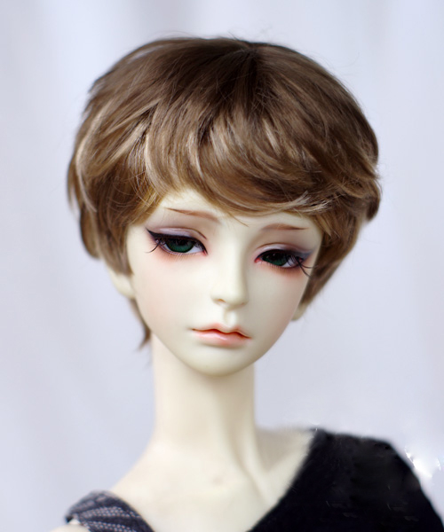BJD Doll Wigs Brown Flaxen Angel Curly Short Hair Wigs For 1/3 1/4 1/6 BJD DD SD MSD Doll Imitation Mohair Doll Accessories