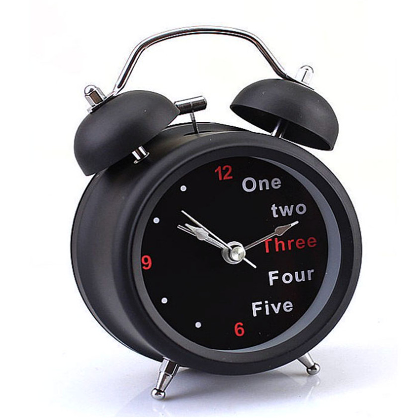 11.11 High Quality New Classic Number/English Retro Double Bell Desk Table Alarm Clock