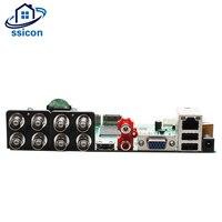 SSICON 8CH 1080N DVR Гибридный NVR доска 5 в 1 Поддержка IP/AHD/CVI/TVI/CVBS камера видеонаблюдения Видео регистраторы модель с 2 Satas HDD