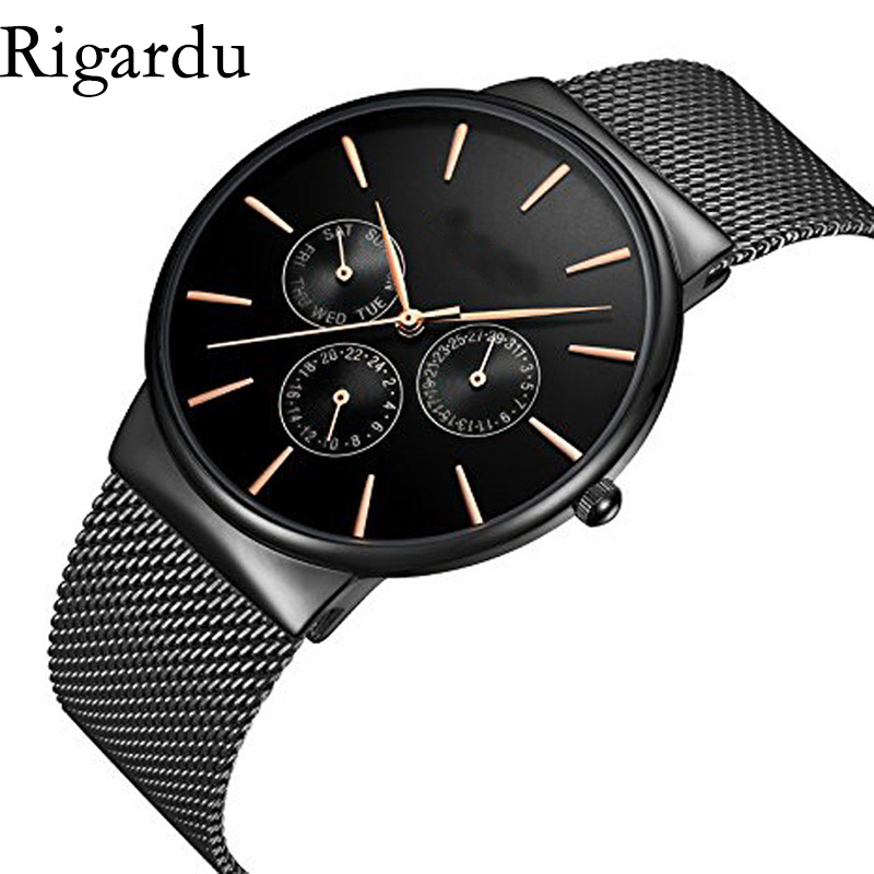 Luxury Men Wrist Watch Stainless Steel Band Dial Simple Design Business Male Gift Classic Quartz Wrist Watches #25 natural hand made classic red wooden men quartz watch bracelet clase full wood band simple scale dial cool gift reloj masculino