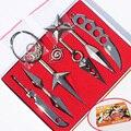 7Pcs/Set Naruto Hatake Kakashi Deidara Kunai Shuriken Figure Weapons Toys Cosplay Toy 2.5/13cm With Box