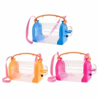 High Quality Hamster Cage with Strap Portable Take Out Small pets Box Bag Breathable Squirrel Guinea pig Backpack with Skylight