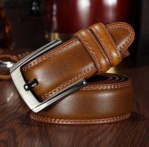 Image 3 - Men Belts 140CM 55in Fashion New luxury Genuine longest Leather design Buckle Top Gift High Quality Extended version Fatty