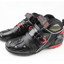 Мотоциклетные ботинки износостойкая Автомобильная гонка обувь ездить защитные сапоги a9002