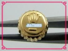 Frete Grátis 1 pc Tamanho 2.4*3.9*6mm de Aço Inoxidável de Ouro Relógio À Prova D' Água Crown & Tubo para Reparação relógio