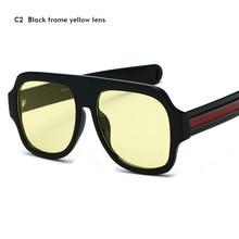 9246cccda2f Big Oversized Sunglasses Man Woman Yellow Mens Sunglasses for Men Women  Retro Plastic Sun glasses Pink