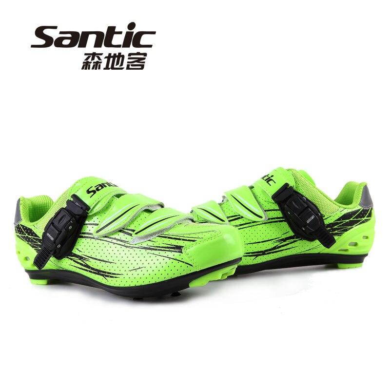 Santic selbstsichernde rennrad schuhe autobahn linie motor schuhe selbstsichernde kompatibilität shimano fahrrad schuhe reitausrüstung
