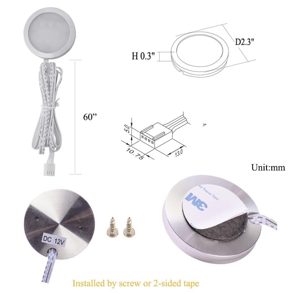 AIBOO LED Unter Kabinett Licht Puck Licht Kit RF Fernbedienung - Innenbeleuchtung - Foto 2