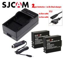 SJCAM SJ4000 sj5000 аккумулятор + Eur/car кабель зарядное устройство для SJCAM SJ4000 SJ5000 SJ5000X SJ8000 SJ6000 SJ7000 M10 действие камера