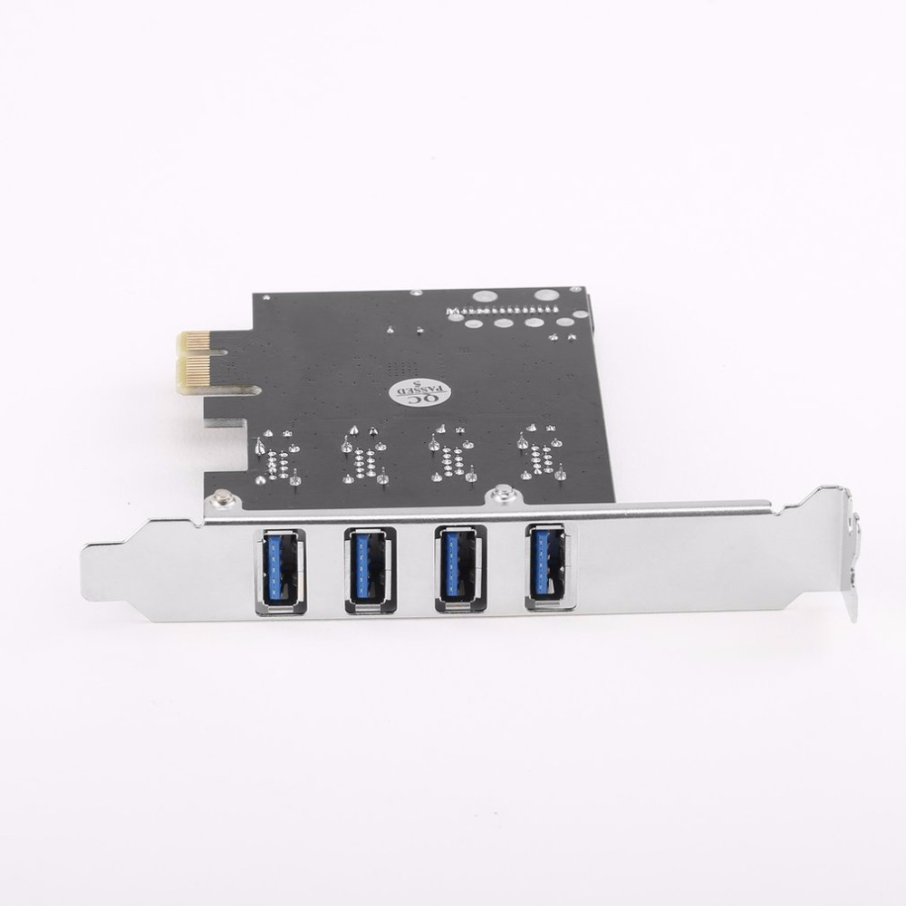 4 Ports USB 3.0 PCI E PCI Express PCI Expansion Card Host Card Hub Controller Adapter For Desktop Computer Components Brand New