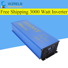 Continuous power 3000w pure sine wave solar inverter 24V to 220V off-grid pure sine wave solar inverter solar converter 3000w pure sinus inverter 12 volt to 220 volt 3000va off grid pure sine wave inverter