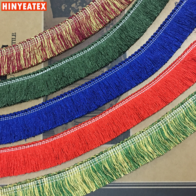Free Shipping 7 Colors Decorative Trims Fringe Sofa Home Interior Garment Throw Trimming Accessory 4cm Wide Sell By 5meters/lot