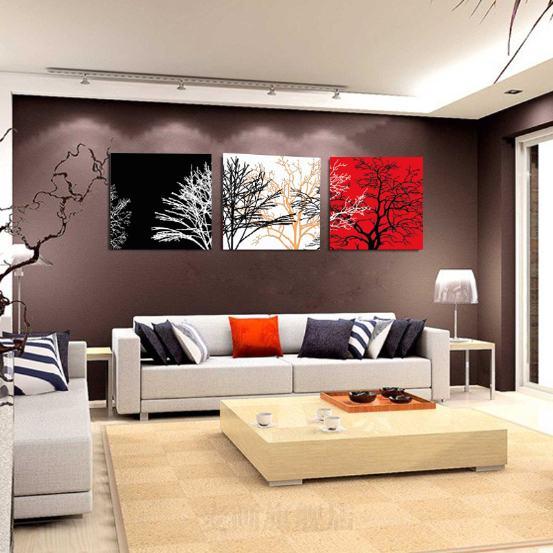 No Frame 3 Panels Modern Abstract Pachira Painting On Canvas Wall Art Cuadros Large Art Picture HomeDecor For Living room