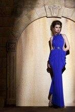 2015 neue Attraktive Mantel High Neck Bodenlangen Chiffon Falten Abendkleid Kleid Langen Ärmel Abend Formal Drapierte F1378