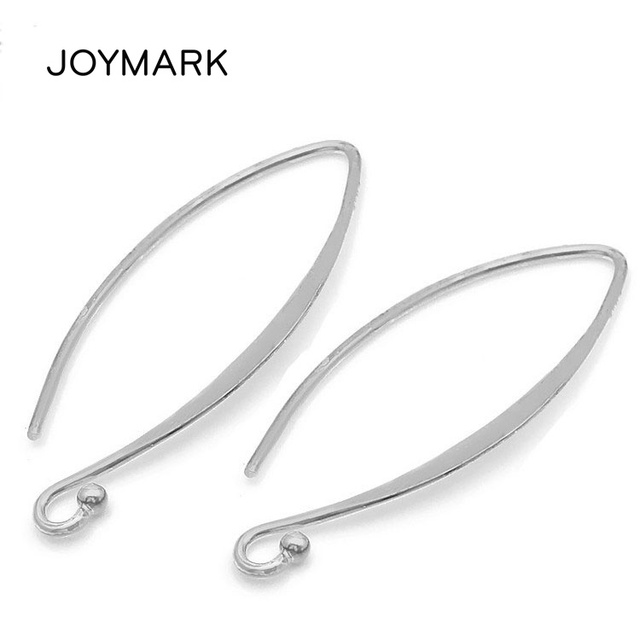 Wholesale 10 pairs/lot 925 Sterling Silver Earring Hooks Findings Clasp Accessories For DIY Women Jewelry Making SEA-EH008