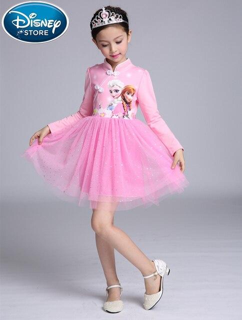 Disney frozen vestido disfraz Anna Elsa Princesa Sofia infantil ...