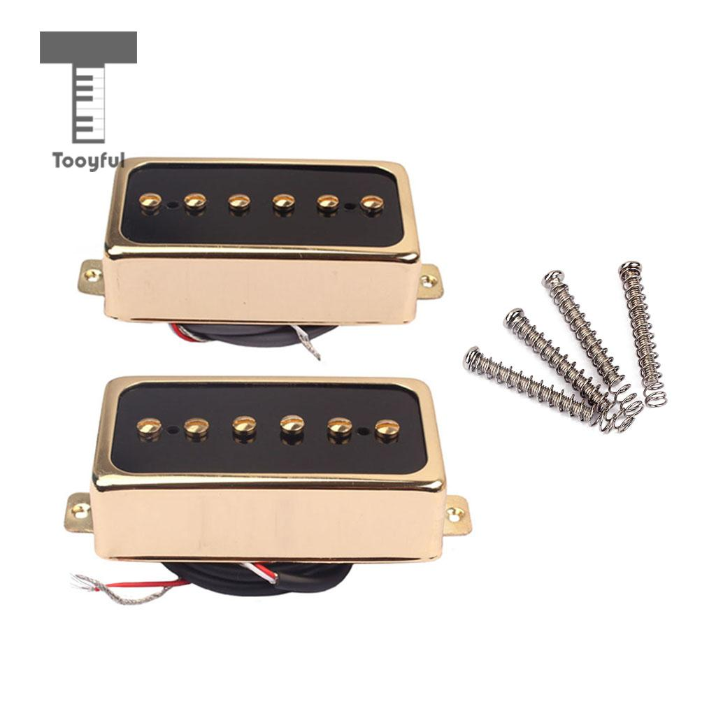 2 Pieces Plastic Alnico 5 Soapbar Single Coil Pickup Set for Electric Guitar Replacement Parts Neck/Bridge Golden free shipping new electric guitar double coil pickup chb 5 can cut single art 46
