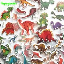Happyxuan 12 Sheets Mixed Small Cool Cartoon Dinosaur Stickers for Kids Boys Animal PVC Puffy Baby School Teacher Reward Gift