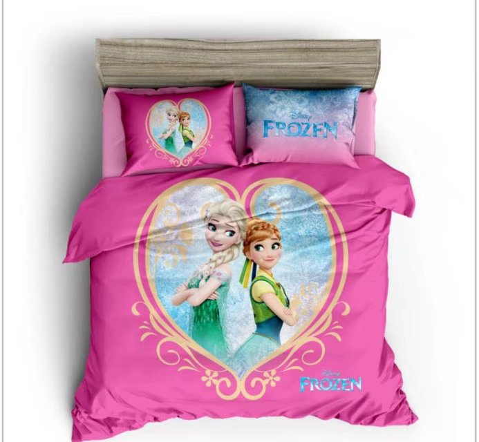 Frozen Elsa And Anna 3D Printed Comforters Bedding Sets Girls Babys Bedroom 600TC Cotton Bed Covers Single Twin Full Queen SizeFrozen Elsa And Anna 3D Printed Comforters Bedding Sets Girls Babys Bedroom 600TC Cotton Bed Covers Single Twin Full Queen Size