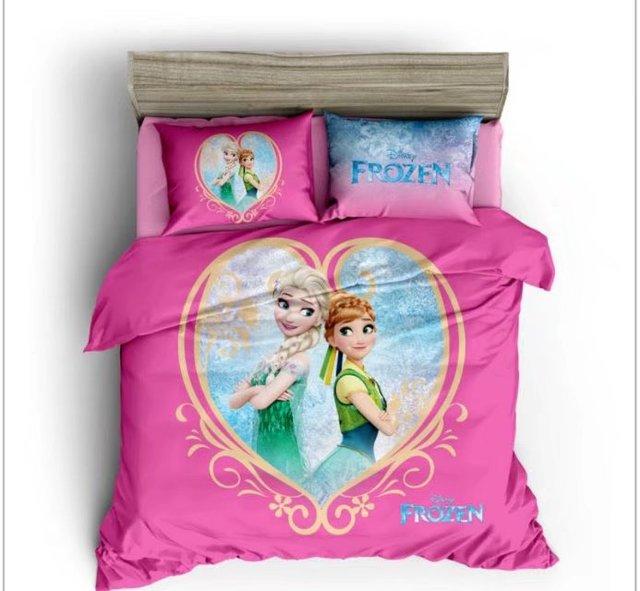 Gefrorene Elsa Und Anna 3d Gedruckt Bettdecken Bettwäsche Sets