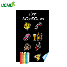 Magnetic blackboard Sticker Self-adhesive Chalk Writing Holding Magnets 80 x 50 cm for kids room decoration