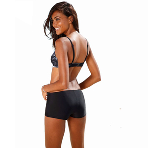 Image 5 - Bikini 2020 Sexy Push Up Two Piece Swimsuits Plus Size Swimwear Women Brazilian Bathing Suit Shorts Sport Swimming Suit Tankini