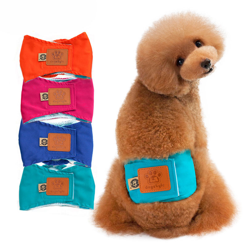 Washable Male Dog Diapers Reusable Durable Comfortable Puppy Pet Dog Belly Warp Physical Pant for Small Medium Large Dogs S - XL