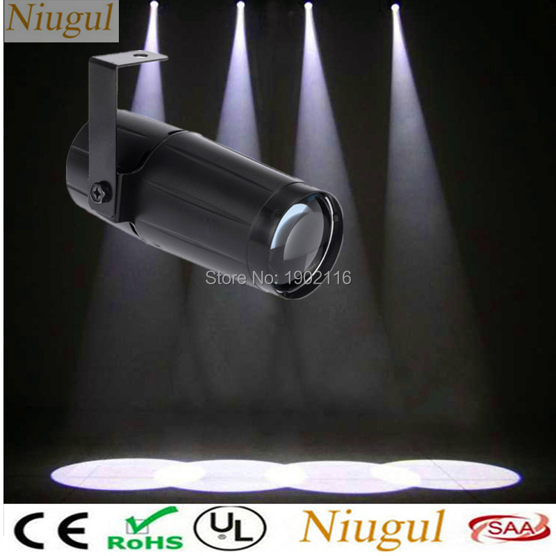 Niugul Total 5W LED White Beam Pinspot Light Spotlight Super Bright Lamp Mirror Balls DJ Disco Effect Stage Lighting for KTV DJ