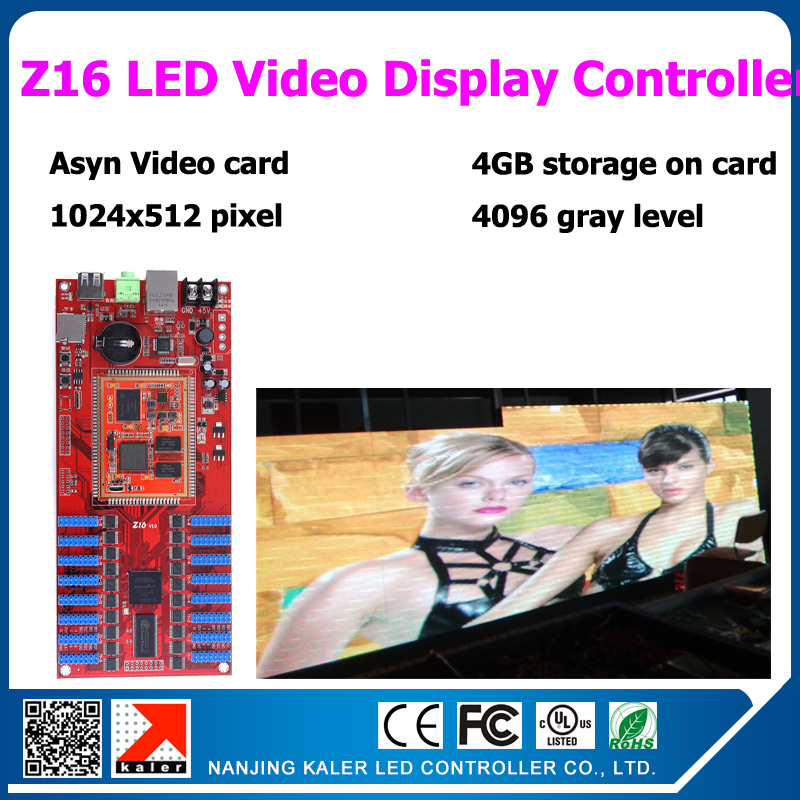 Free shipping easy operation usb and ethernet port 16pcs hub75 port led video display controller card Z16 support 1024*512 pixelFree shipping easy operation usb and ethernet port 16pcs hub75 port led video display controller card Z16 support 1024*512 pixel