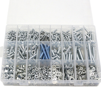 Home Screw Set Semi Round Head Tapping Screw Nut Gasket M3 M4 M5 M6 Screw Mixed