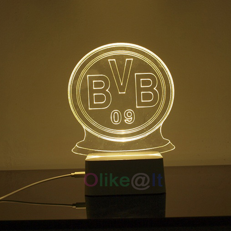 Free shipping borussia dortmund 3d night light micro usb lamp teen free shipping borussia dortmund 3d night light micro usb lamp teen bedroom decor amazing 3d optical illusion led table lamp in night lights from lights voltagebd Images