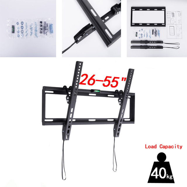 """Soporte de montaje en pared Universal para televisor LCD LED ultra HD, Plasma basculante, compatible con Max de 26 """" 55"""", 40KG de peso Vesa, 400x400mm"""
