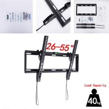 """범용 기울이기 플라즈마 lcd led 울트라 hd tv 벽 마운트 브래킷 26 """" 55"""" 최대 지원 40 kg 무게 vesa 400x400mm"""