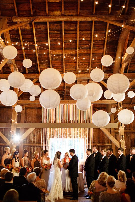 6pcs 4\'\'6\'\' 20cm/30cm White Chinese Paper Lanterns For Party ...