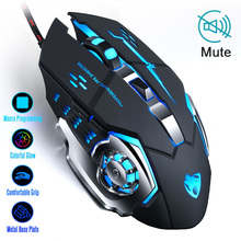 New 6 Button 3200 DPI USB Wired Mechanical Gaming Mouse Mice 4 LED Backlit Optical Professional Game Mouse Mice for PC Laptop 7 button wired mechanical macros define gaming mouse 3200 dpi for laptop pc micemouse gamer